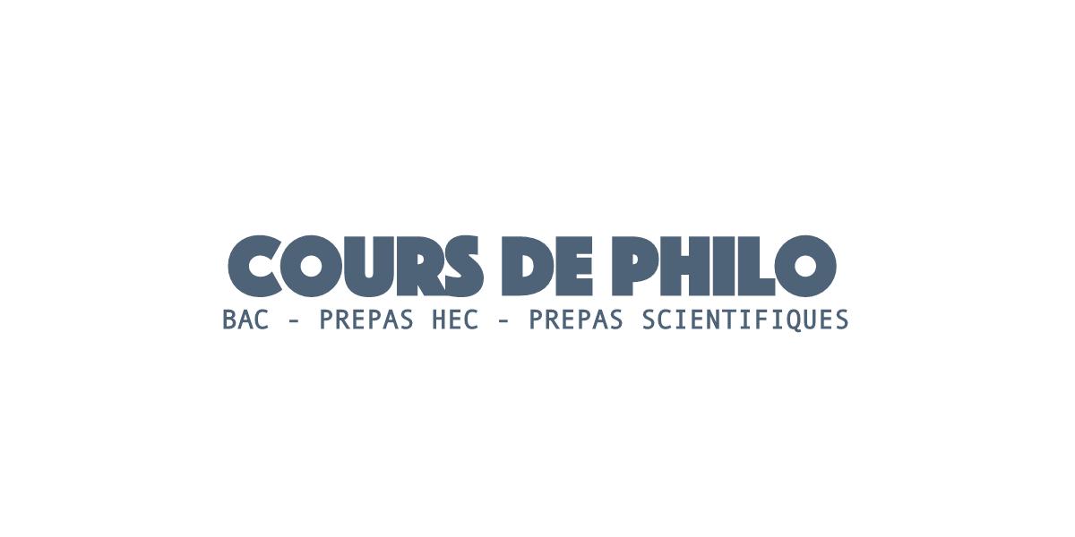 Cours de Philo